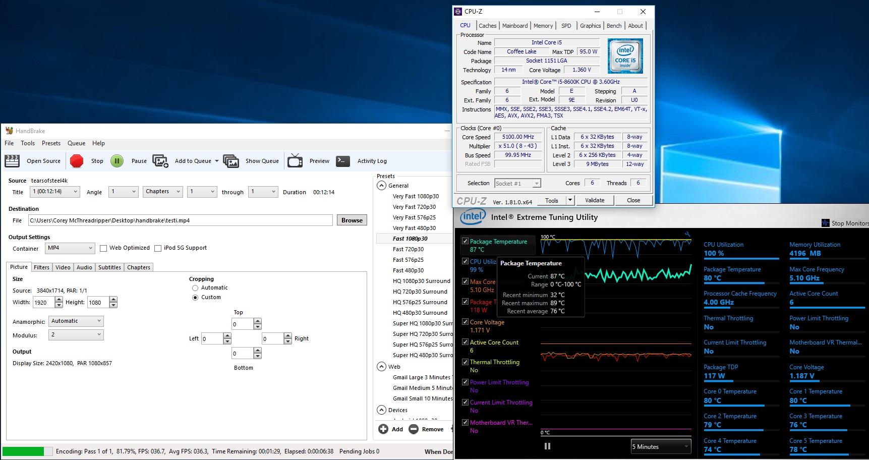 Testissä Intel Core i7-8700K & Core i5-8600K (Coffee Lake
