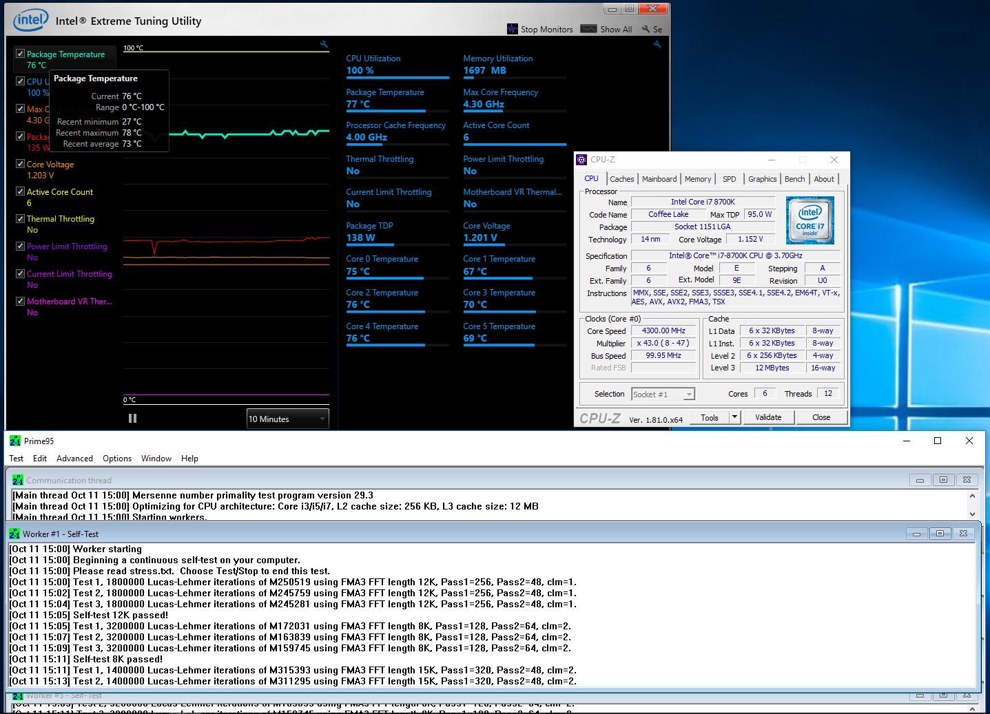 Core i7-8700K: Retail vs Engineering Sample - io-tech fi